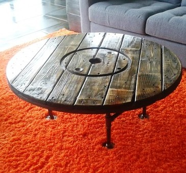 No spooling around for Large wooden spools used for tables
