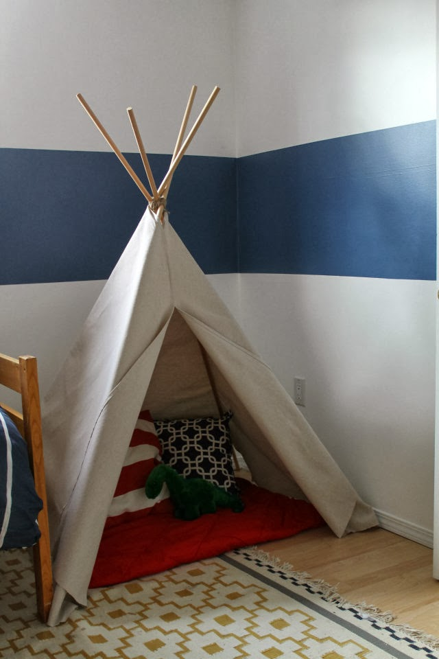 Drop Cloth Teepee
