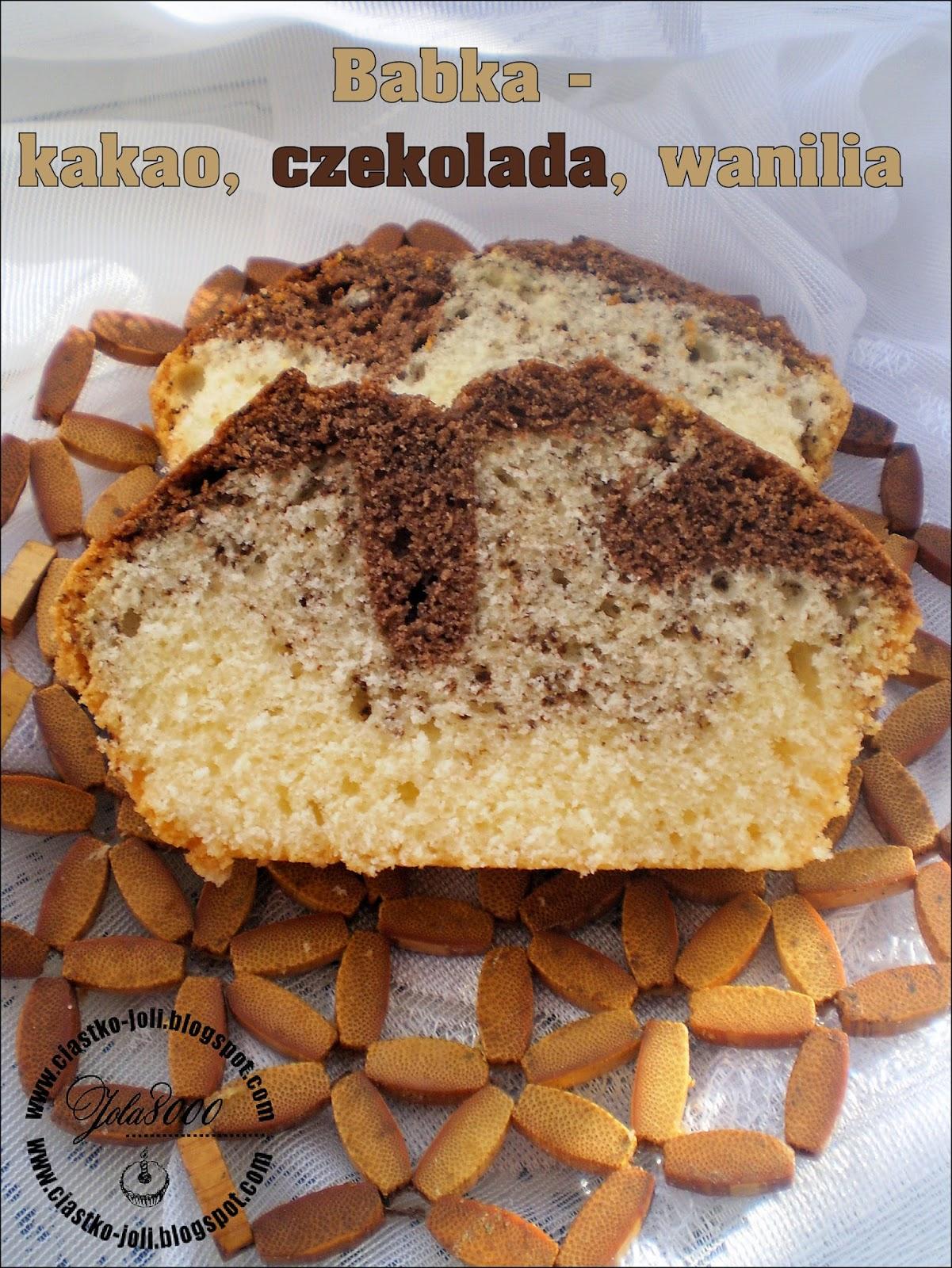 Babka - kakao, czekolada, wanilia