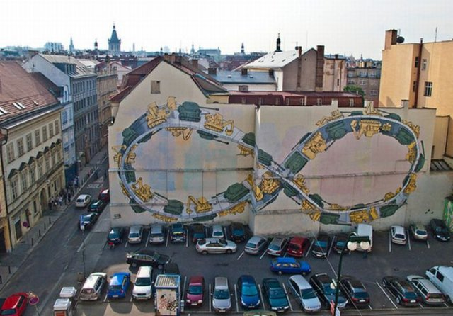 Amazing Street Walls Art By BLU Seen On www.coolpicturegallery.us