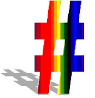 rainbow hashtag image from Bobby Owsinski's Music 3.0 blog