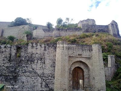 Walls, Gate, Kangra Fort,