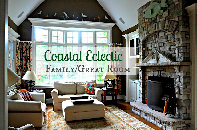 Coastal Eclectic Family Room by Serendipity Refined