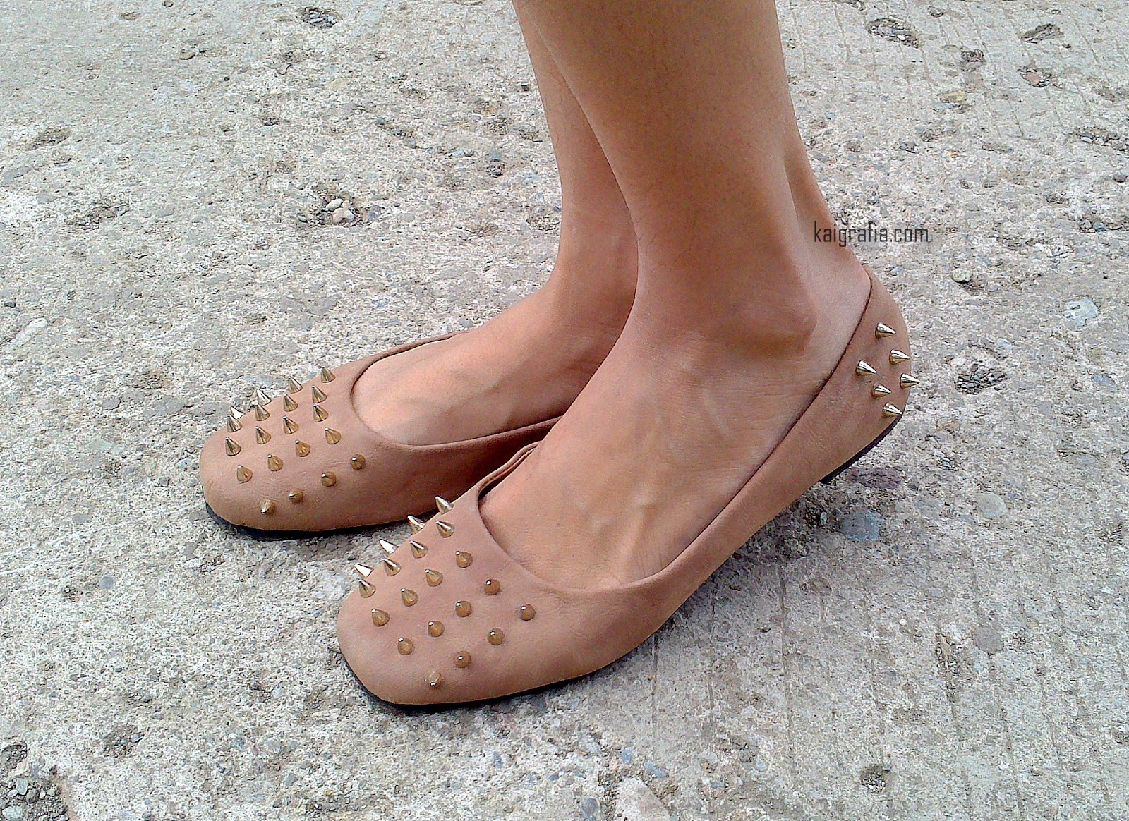 Spiked Flat Shoes