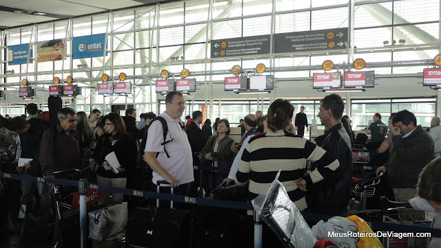 Check-in no Aeroporto de Santiago do Chile