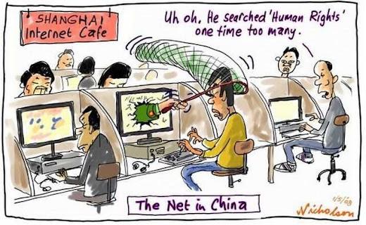 """Internet na China: """"Ui! Uau! Ele procurou 'Direitos humanos'!"""""""