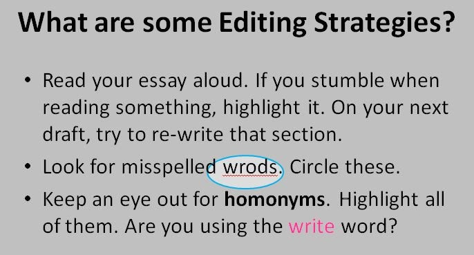 Proofreading and Editing Strategies