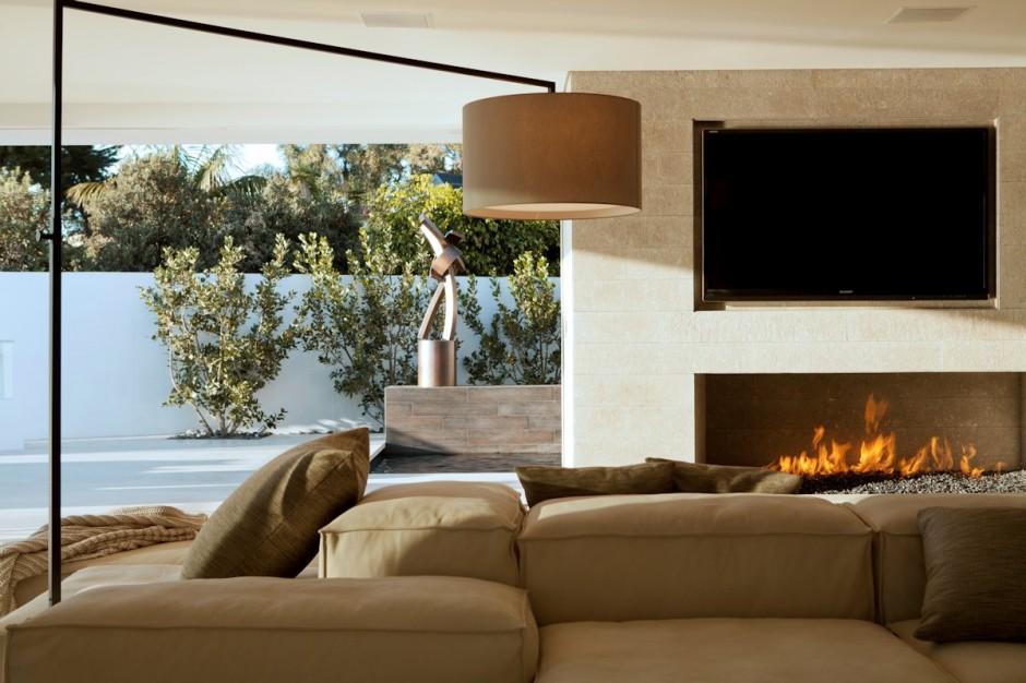 Fire side living room