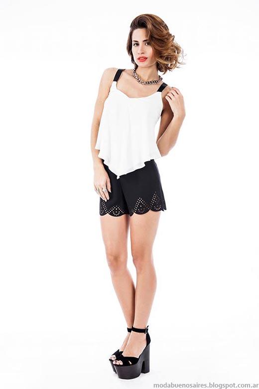 Shorts calados tendencias de moda primavera verano 2015.