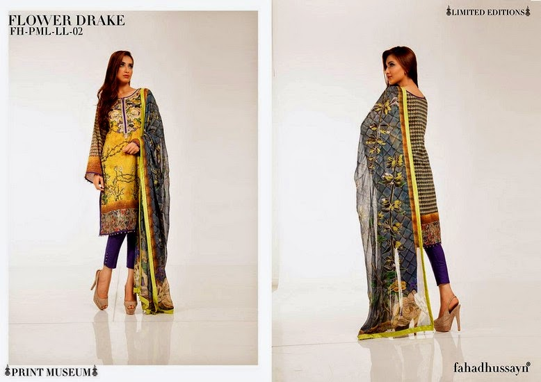 Fahad Hussain – Print Museum Limited Lawn Collection 2014