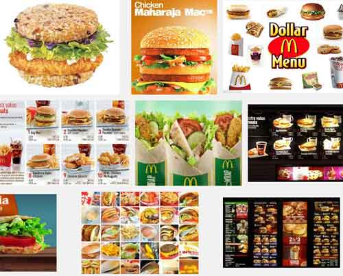 McDonalds menu items around the world