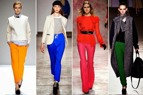 2014 Renkli Pantolon Kombinleri Modelleri