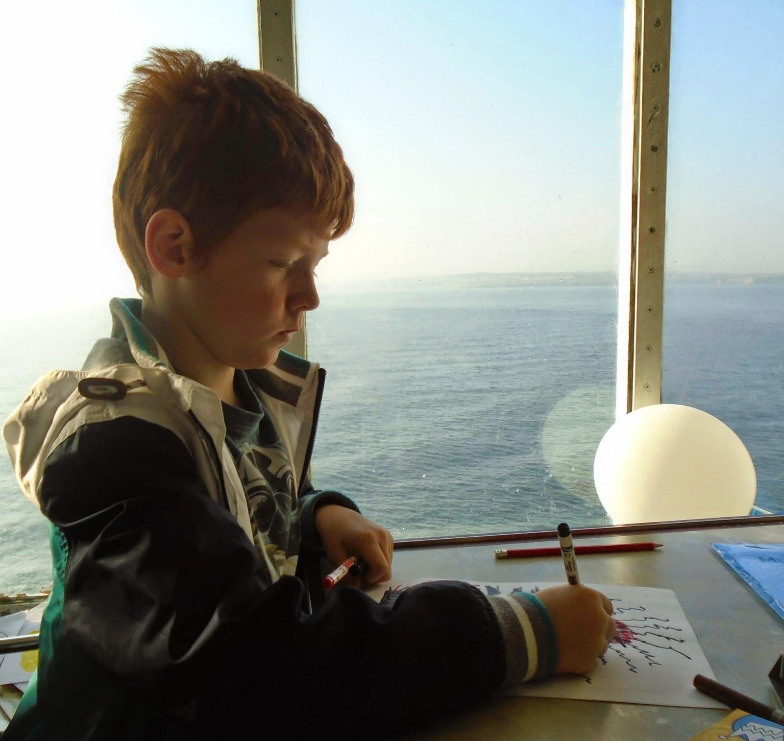 Breakfast in the lighthouse cafe aboard DFDS Seaways
