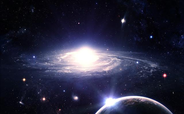 Supernova, sistema solar, estrela brilhante, universo em arte digital