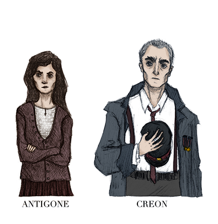 antigone and creon relationship questions