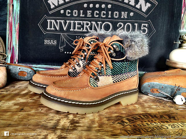 Botas, zapatos, borcegos Marignan calzado femenino otoño invierno 2015.