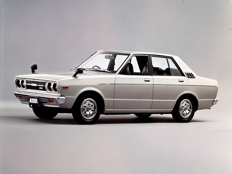 Retro Cars Nissan Violet Auster Sedan A10 1977 81