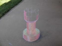 Partial chalk illusion