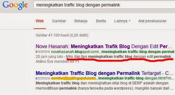 contoh hasil pencarian google