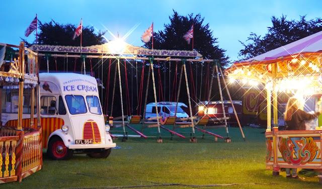 Carters Steam Fair at night