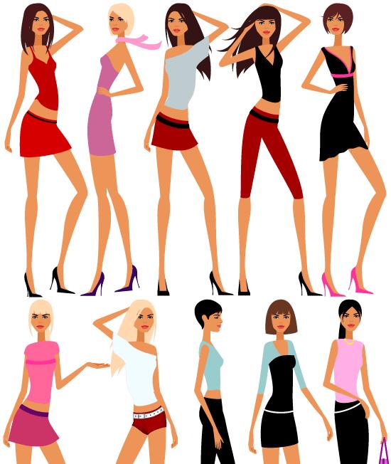 Figuras femeninas estilizadas muy chics