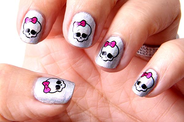 Monster High Nail Art Nails Pinterest Monster High Nails Kid