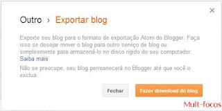 Fazer download do blog
