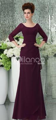 Vintage Violet Bracelet en mousseline de soie de raisin spaghetti étage longueur robe de bal