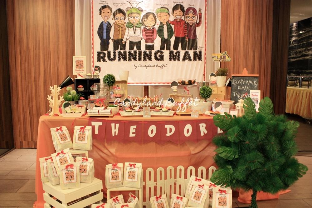 Running Man Birthday Theme Candyland Buffet