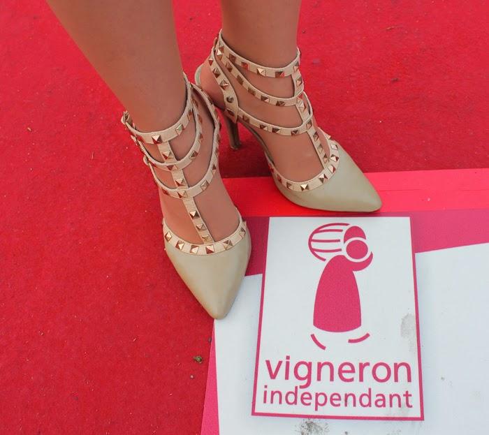 valentino heels, studs, valentino beige heels, vigneron independant, fashion blogger