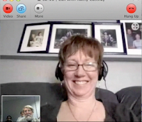 screenshot of Kathy Cassidy Skyping with John Strange