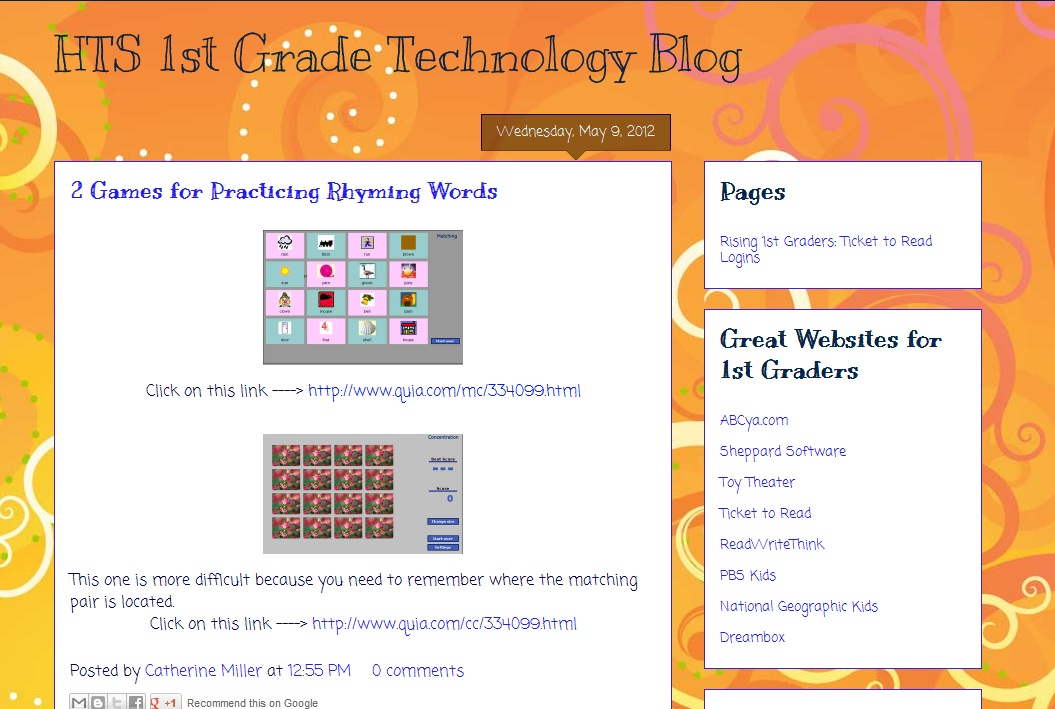 Hts summer learning blog first and second grade technology blogs