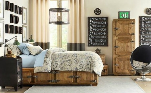 Traditional boys room decor ideas 2015, with storage bed cabinets