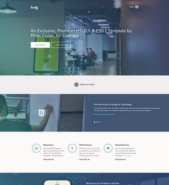 """""""Boxify"""" One Page Website Template"""