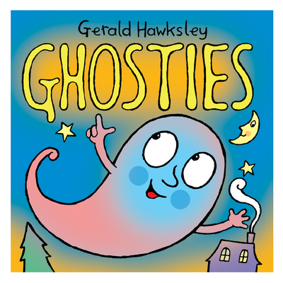 cover illustration for Ghosties, a Halloween ebook for kids