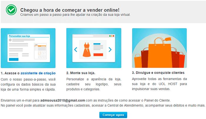 UOL Host montar loja virtual