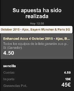Apuestas Deportivas Rosberg Bayern PSG Ajax 888sport