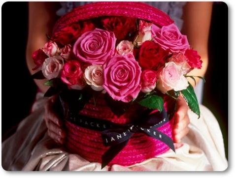hattask med rosor, hattask, alla hjärtans dags present