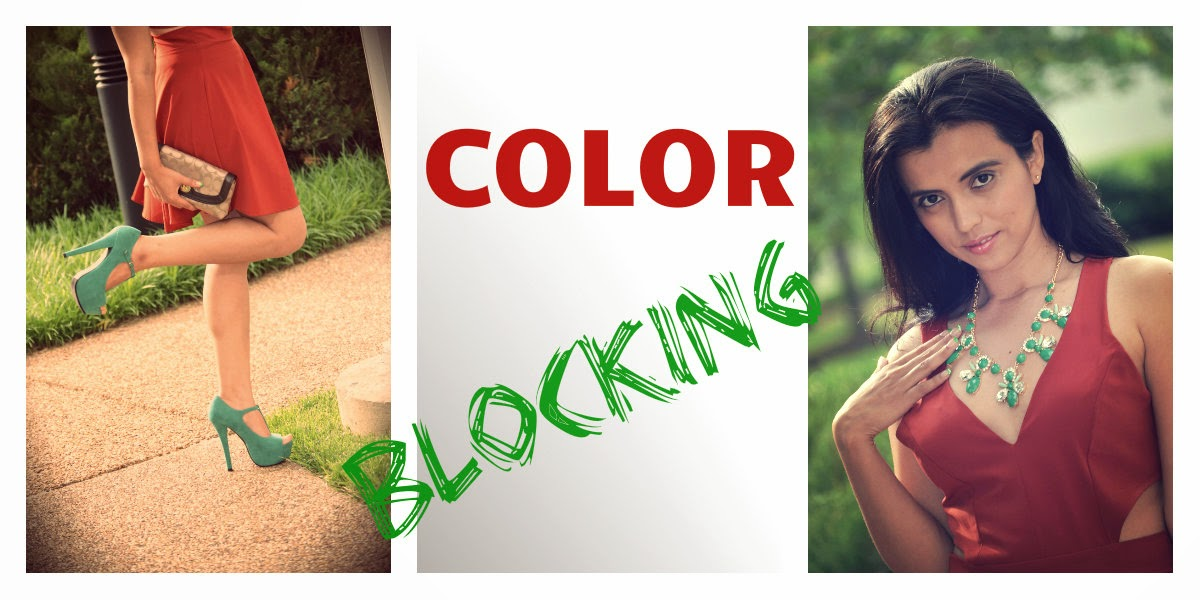 outfit color blocking verano