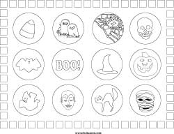 halloween place mat coloring page