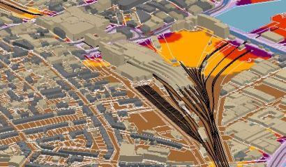 Mapa de ruido industrial