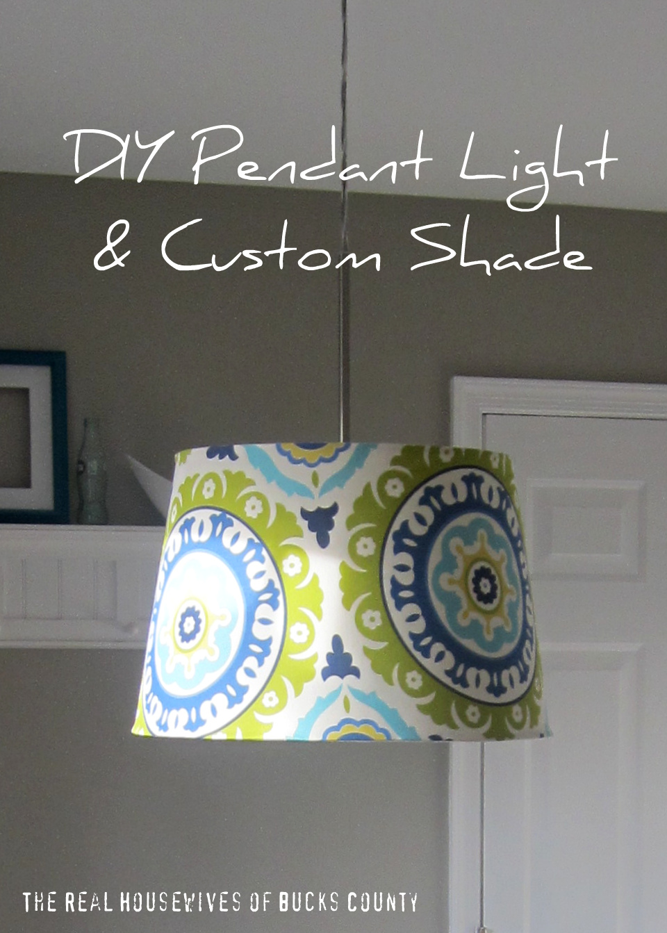 Diy pendant light custom shade east coast creative blog aloadofball Image collections