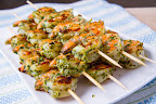 Pesto Grilled Shrimp