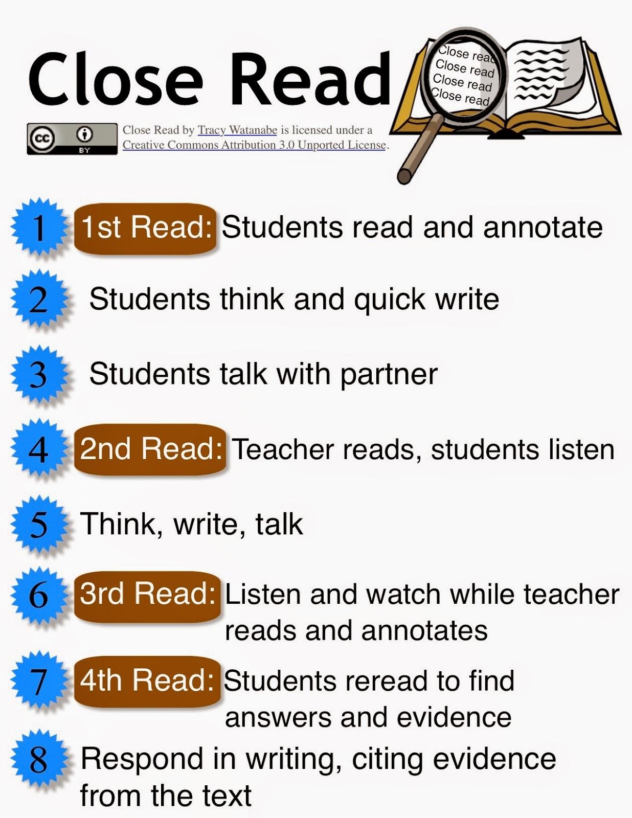 Close reading passages 5th grade