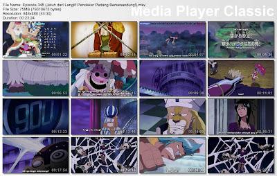 Download Film One Piece Episode 348 (Jatuh darI Langit! Pendekar Pedang Bersenandung!) Bahasa Indonesia