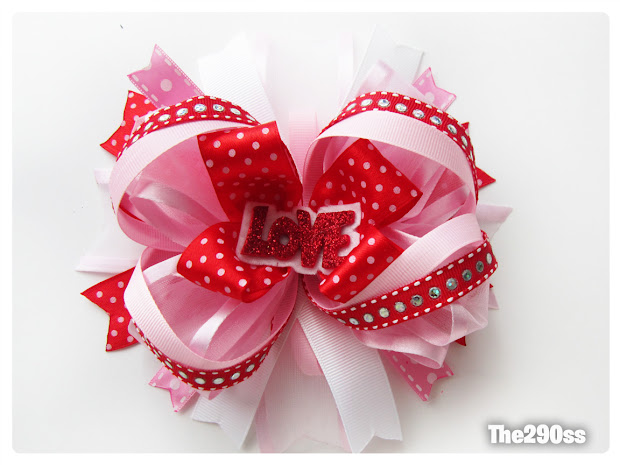 the290ss valentine's hair bow