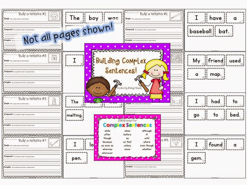 http://www.teacherspayteachers.com/Product/Building-Complex-Sentences-Writing-Complex-Sentences-899382