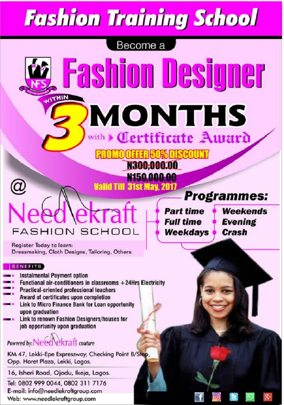 NEEDLEKRAFT FASHION SCHOOL