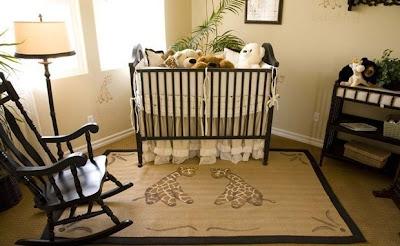 dormitorio bebé colores tierra