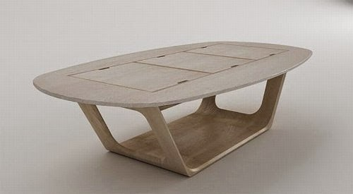 wooden modular coffee table design by roberto delponte